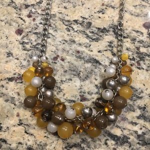 Yellow bubble bead necklace